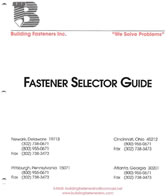 fastener selection guide